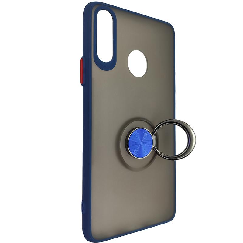 Чохол Totu Copy Ring Case Samsung A20S Blue+Red - 2