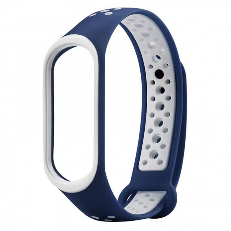 Ремінець для фітнес браслету Mi Band 3/4 Sport Band Nike Blue/White - 1