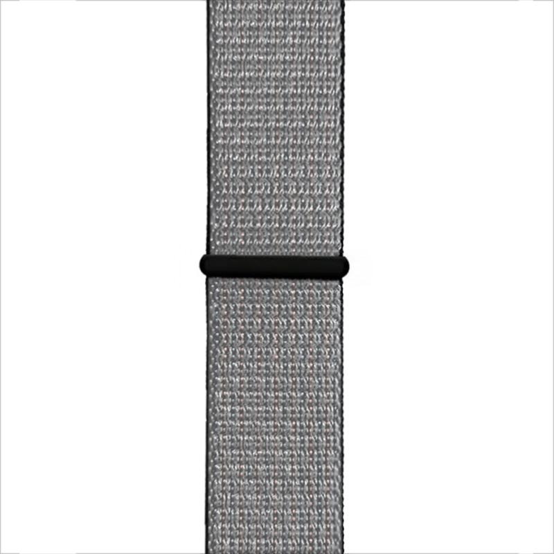 Ремінець для Apple Watch (38-40mm) Sport Loop Nike Black/Silver - 1
