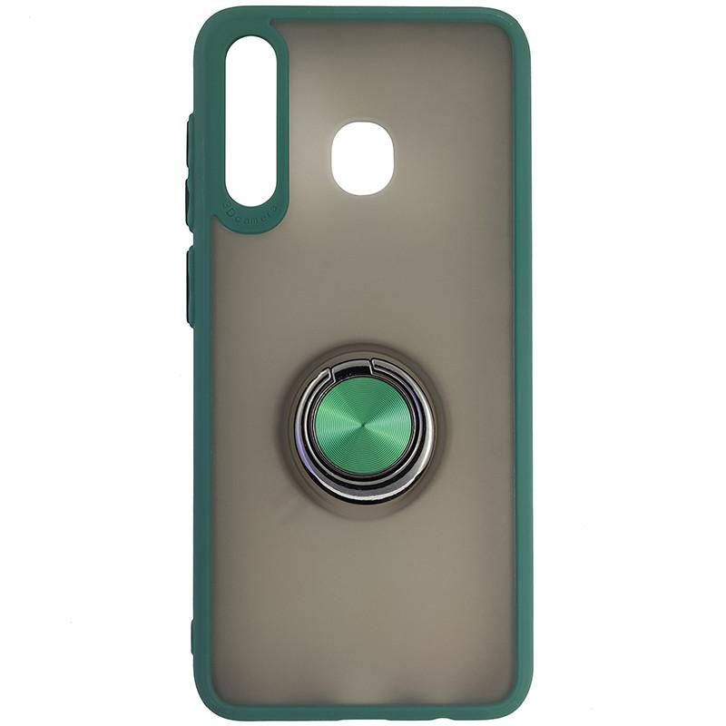 Чохол Totu Copy Ring Case Samsung A20/A30/M10S Green+Black - 4