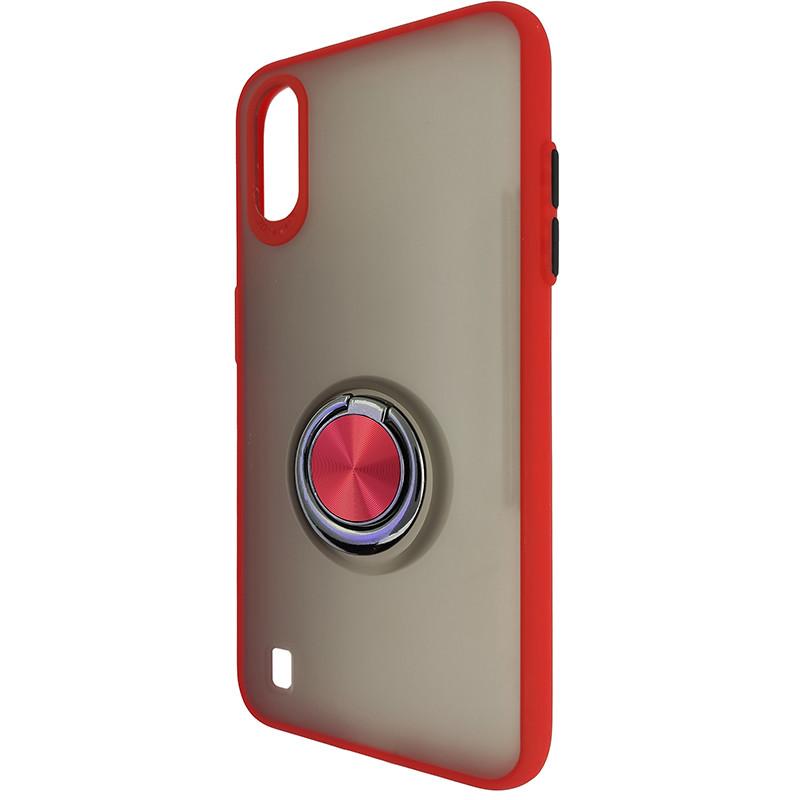 Чохол Totu Copy Ring Case Samsung A01 (A015) Red+Black - 3