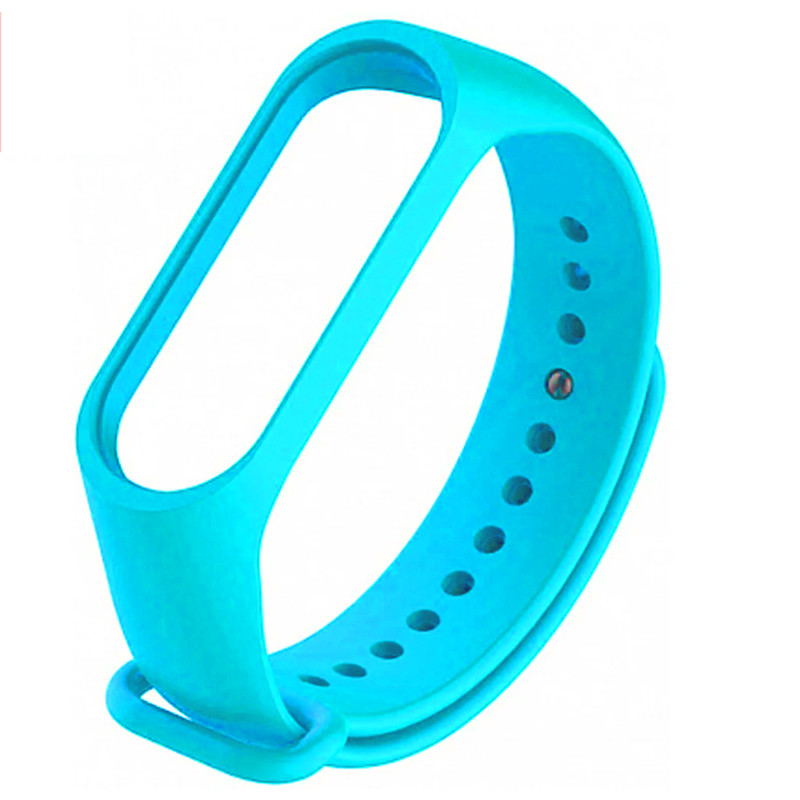 Ремінець для фітнес браслету Mi Band 3/4 (Silicon) Light Blue - 1