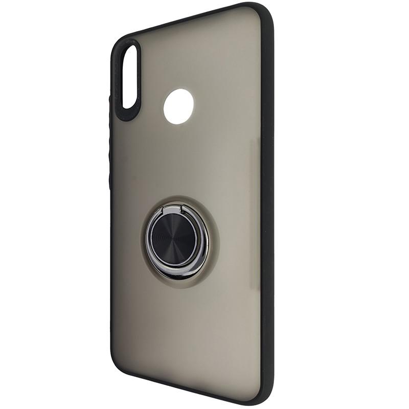 Чохол Totu Copy Ring Case Huawei Y7 2019 Black+Red - 3