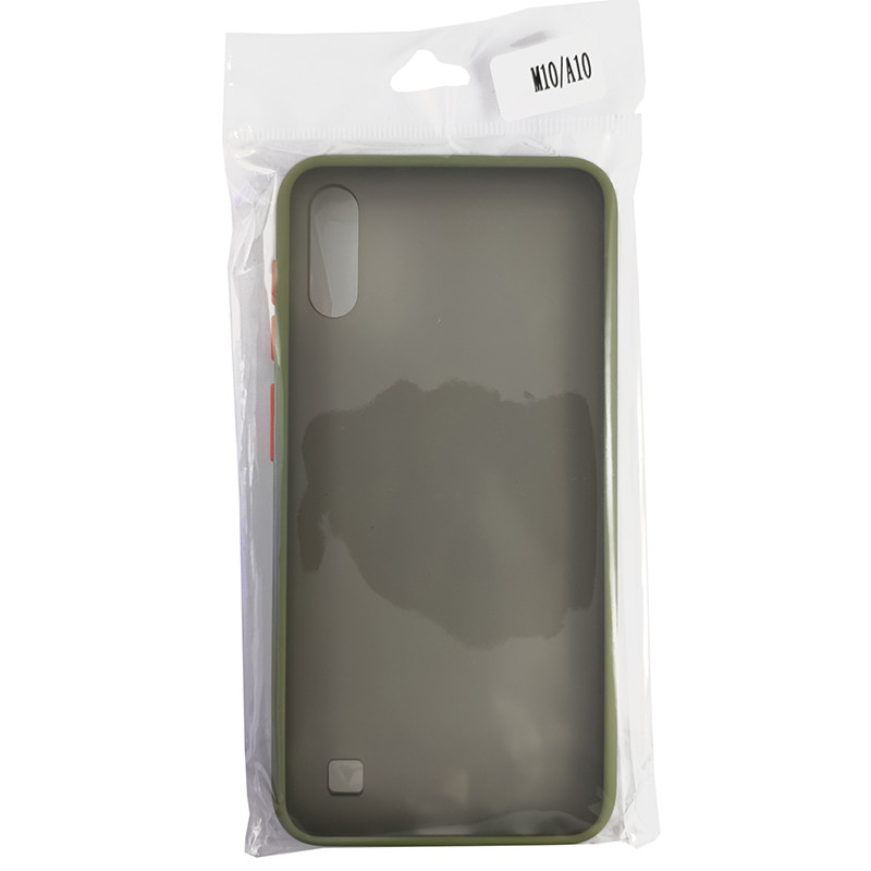 Чохол Totu Copy Gingle Series for Samsung A10 Dark Green+Orange - 4