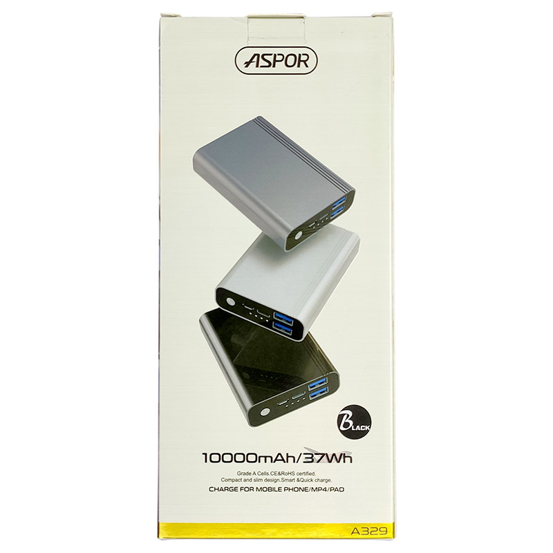 Power Bank Aspor A329 10000mAh, Black - 5