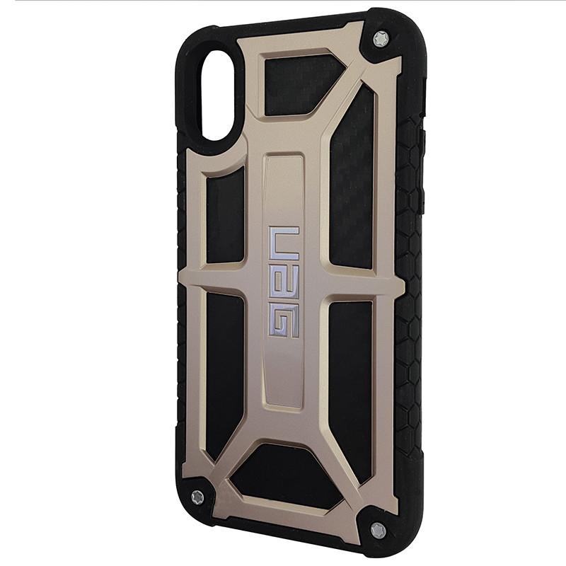 Чохол UAG Monarch iPhone X/XS Gold (HC) - 1