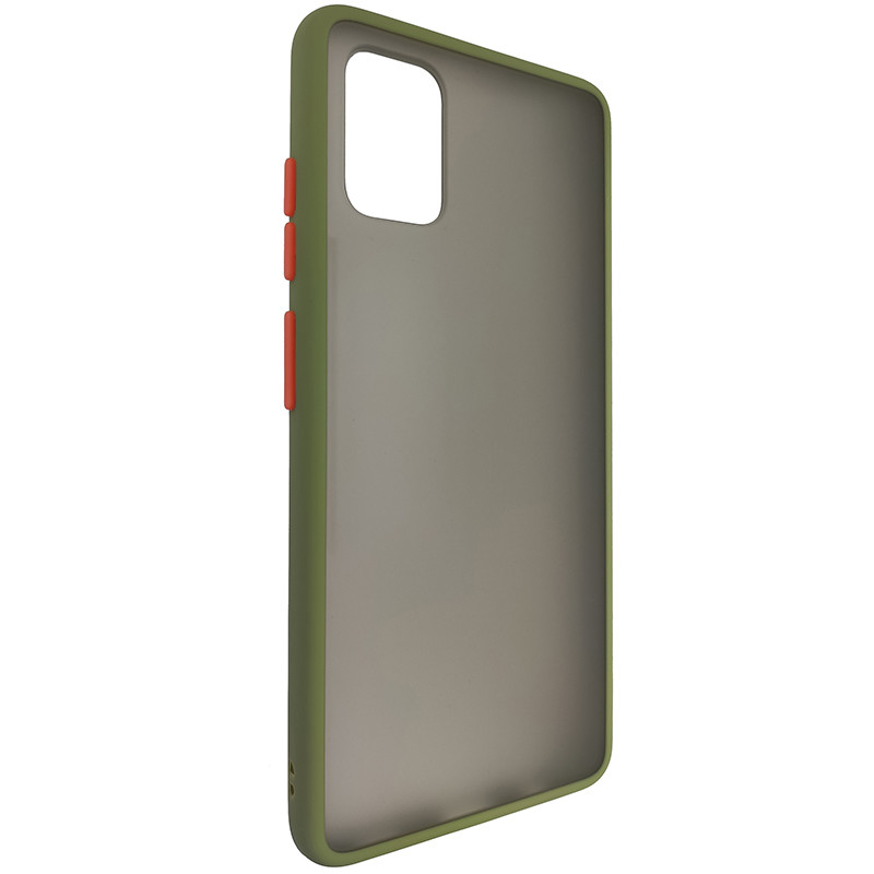 Чохол Totu Copy Gingle Series for Samsung A51/M40S Dark Green+Orange - 1