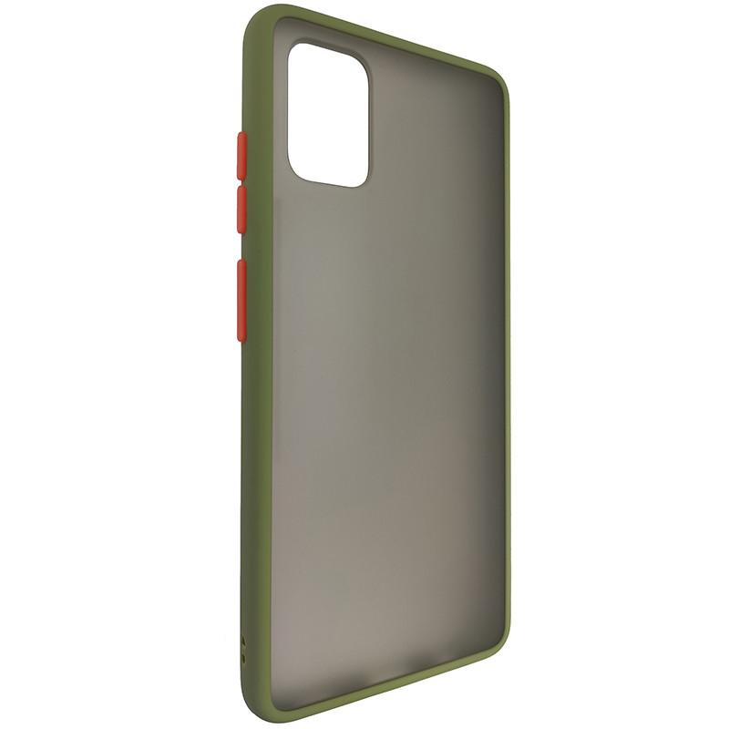 Чохол Totu Copy Gingle Series for Samsung A51/M40S Dark Green+Orange - 1
