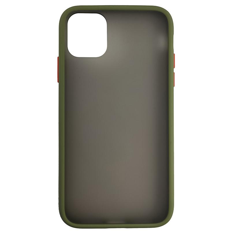 Чехол Totu Copy Gingle Series for iPhone 11 Dark Green+Orange - 2