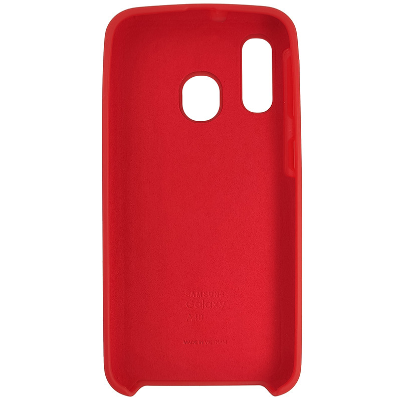 Чохол Silicone Case for Samsung A40 Red (14) - 3