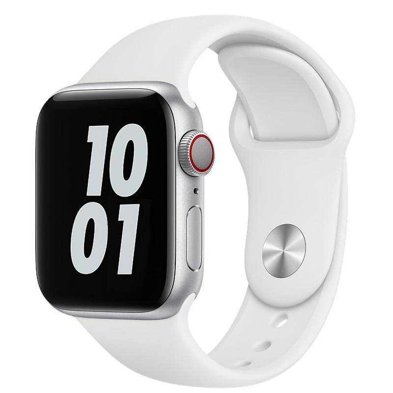 Ремінець для Apple Watch (38-40mm) Sport Band White (9)  - 2