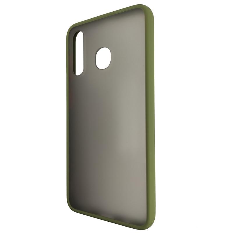 Чохол Totu Copy Gingle Series for Samsung A20/A30 Dark Green+Orange - 3