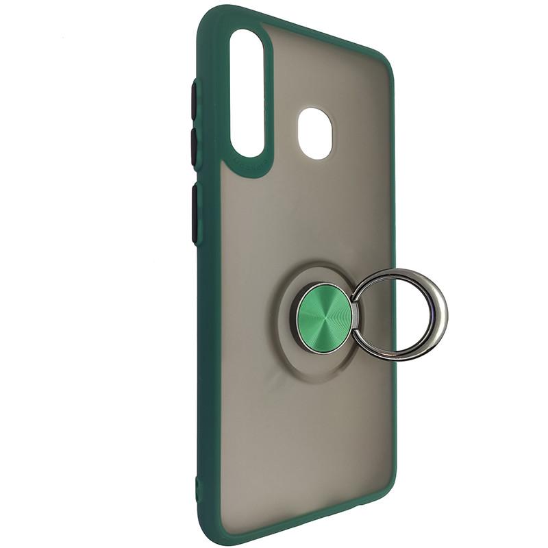 Чохол Totu Copy Ring Case Samsung A20/A30/M10S Green+Black - 2