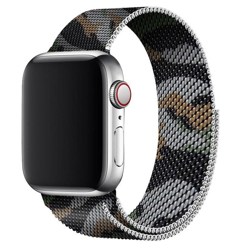 Ремінець для Apple Watch (38-40mm) Milanese Camo Brown - 2