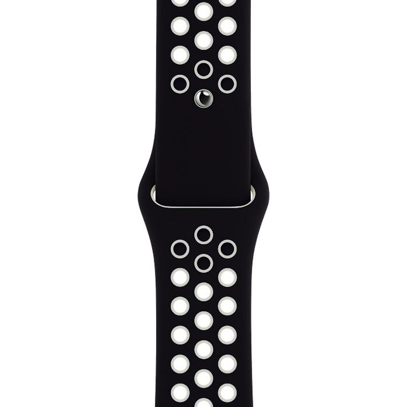 Ремінець для Apple Watch (38-40mm) Nike Sport Band Black/White - 1
