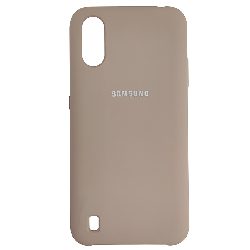 Чохол Silicone Case for Samsung A01 (A015) Sand Pink (19) - 1