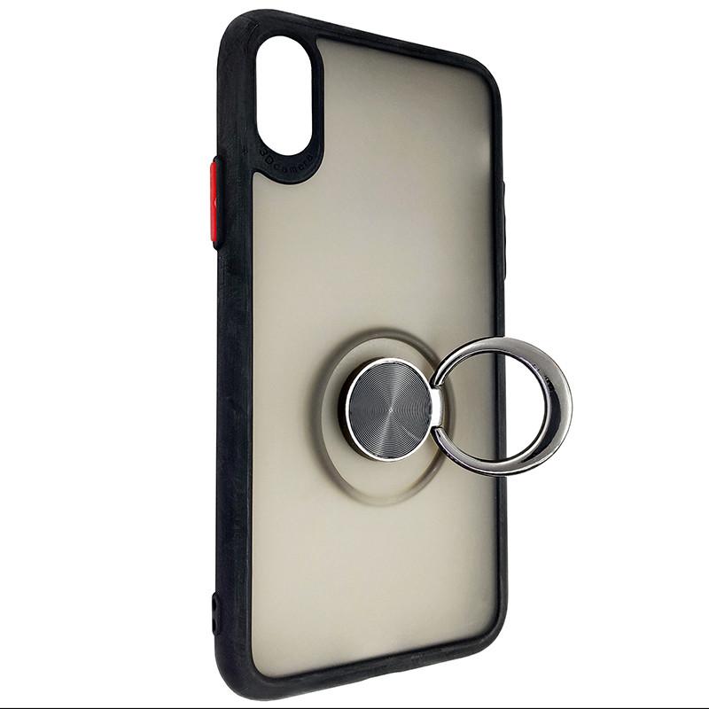 Чохол Totu Copy Ring Case iPhone X/XS Black+Red - 2