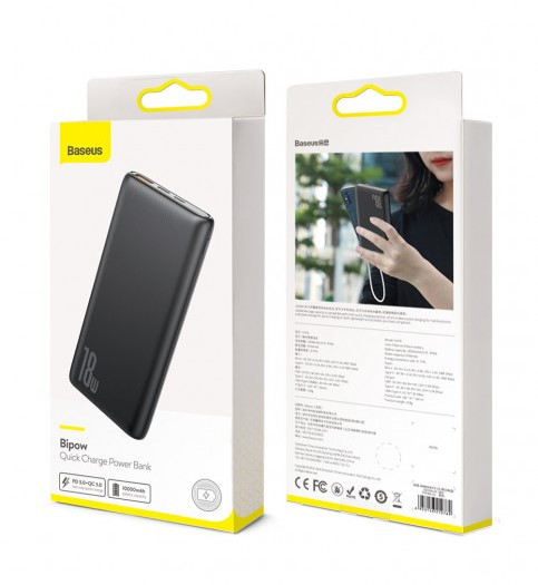 Power Bank Baseus Bipow PD+QC 10000mAh Black - 5