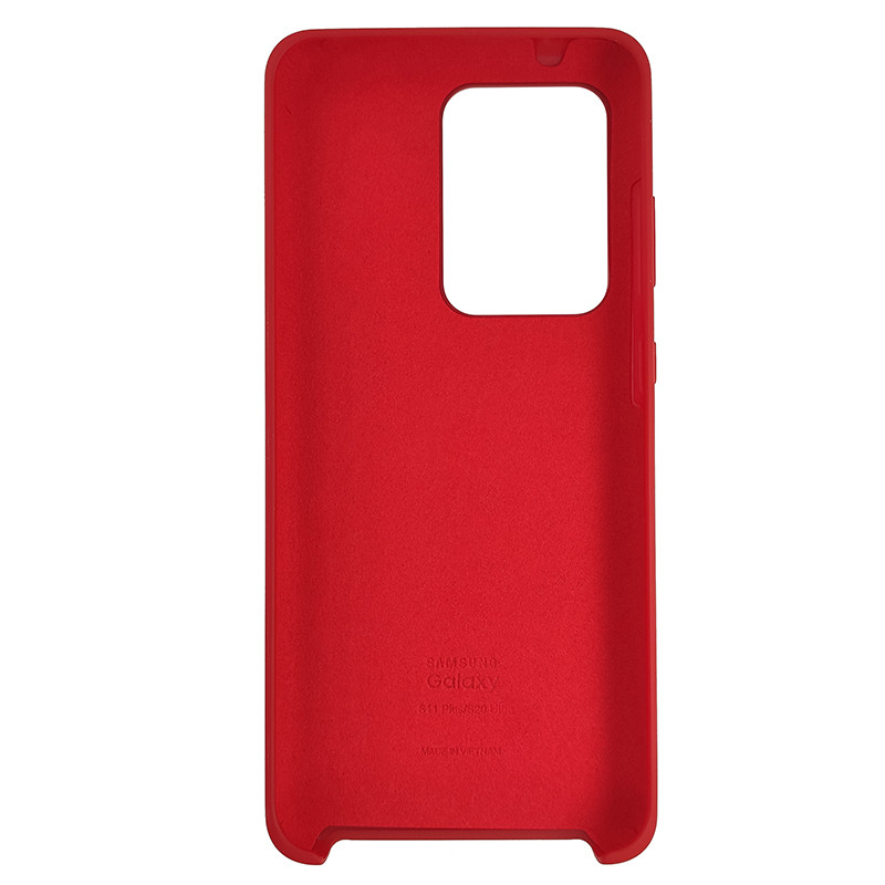 Чохол Silicone Case for Samsung S20 Ultra Red (14) - 3