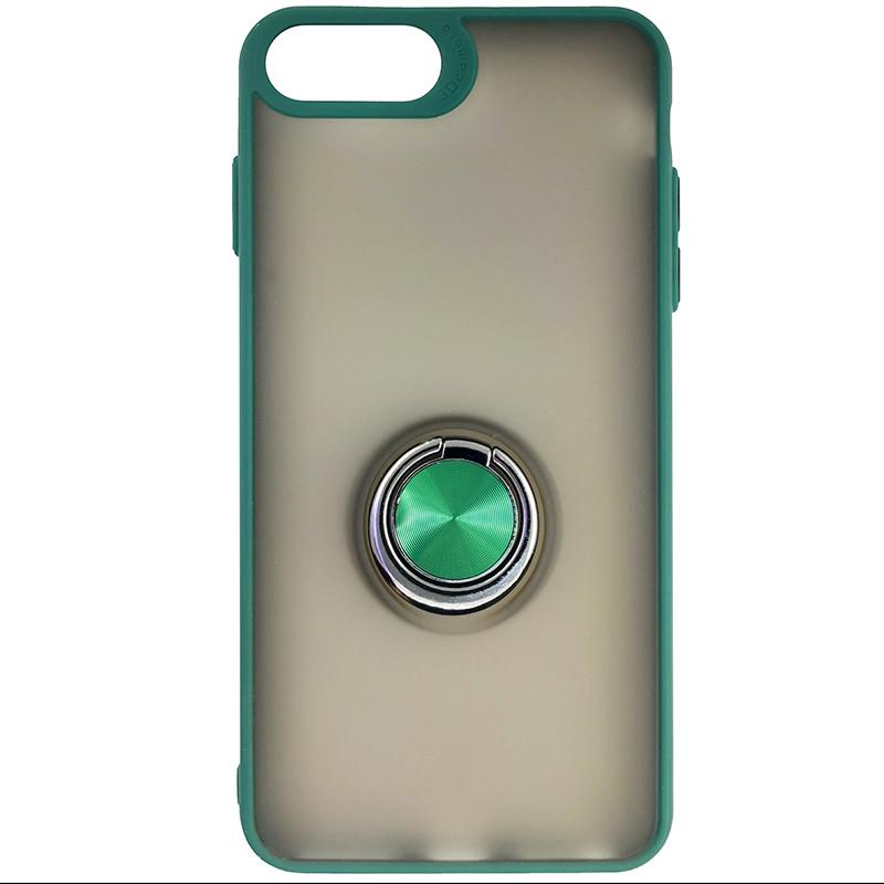 Чохол Totu Copy Ring Case iPhone 6/7/8 Plus Green+Black - 3