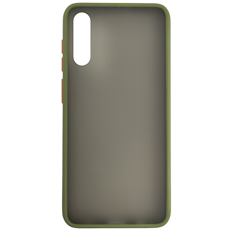 Чохол Totu Copy Gingle Series for Samsung A50S Dark Green+Orange - 2