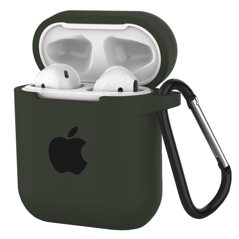 Silicone Case for AirPods Dark Olive (34) - 1