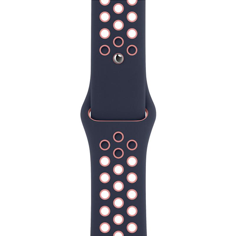 Ремінець для Apple Watch (42-44mm) Nike Sport Band Blue/Pink - 1