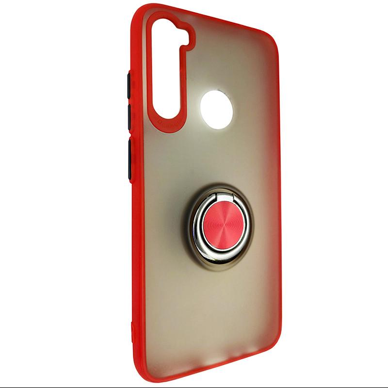 Чехол Totu Copy Ring Case Xiaomi Redmi Note 8 Red+Black - 1