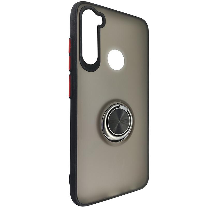 Чохол Totu Copy Ring Case Xiaomi Redmi Note 8 Black+Red - 1