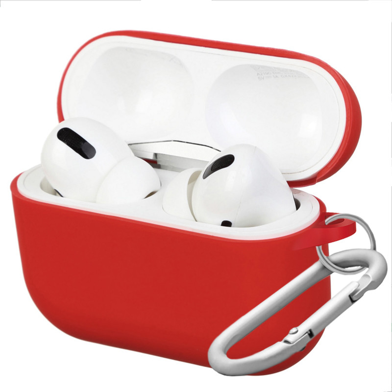 Silicone Case for AirPods Pro Red (14) - 1