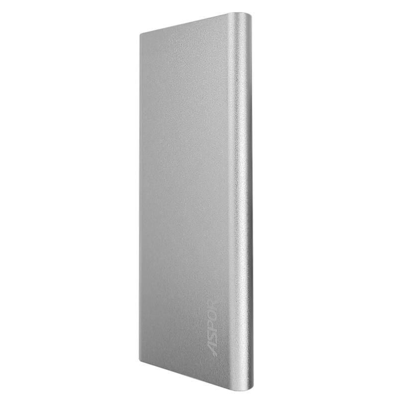 Power Bank Aspor A383 10000mAh, Silver - 1