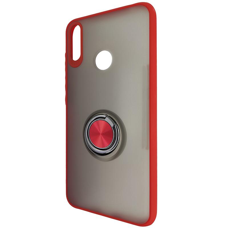 Чохол Totu Copy Ring Case Huawei Y7 2019 Red+Black - 3