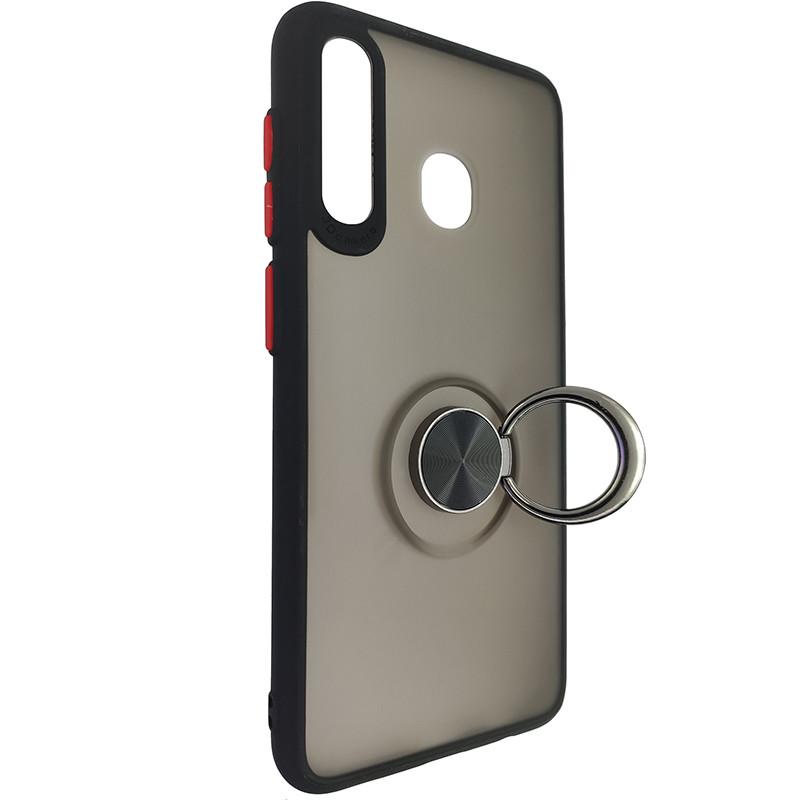 Чохол Totu Copy Ring Case Samsung A20/A30/M10S Black+Red - 2