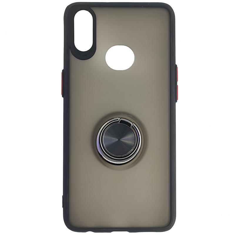 Чохол Totu Copy Ring Case Samsung A10S Black+Red - 4