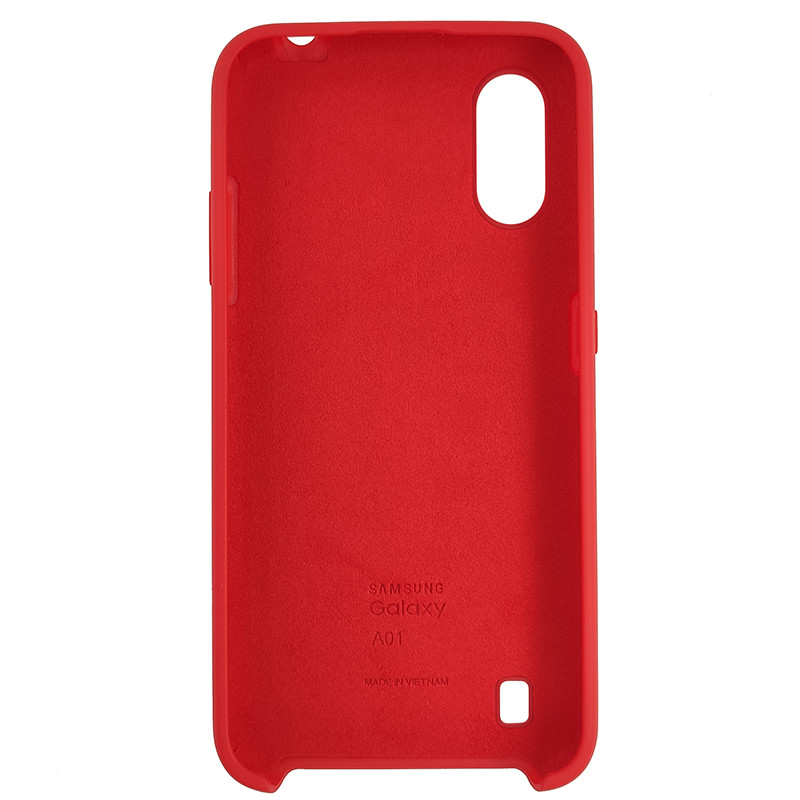 Чохол Silicone Case for Samsung A01 (A015) Red (14) - 3