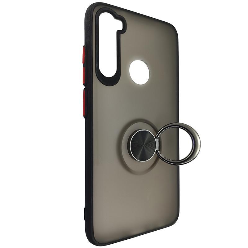 Чохол Totu Copy Ring Case Xiaomi Redmi Note 8 Black+Red - 2