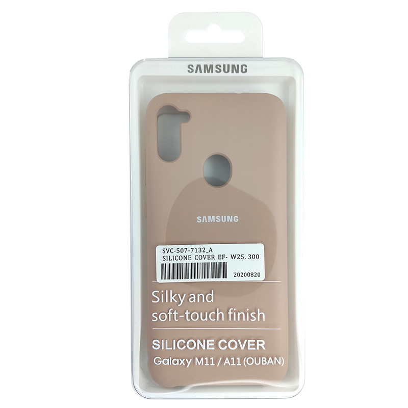 Чохол Silicone Case for Samsung A11/M11 Sand Pink (19) - 4