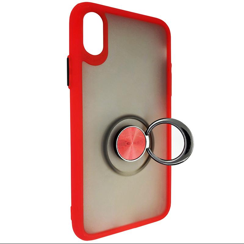 Чохол Totu Copy Ring Case iPhone X/XS Red+Black - 2