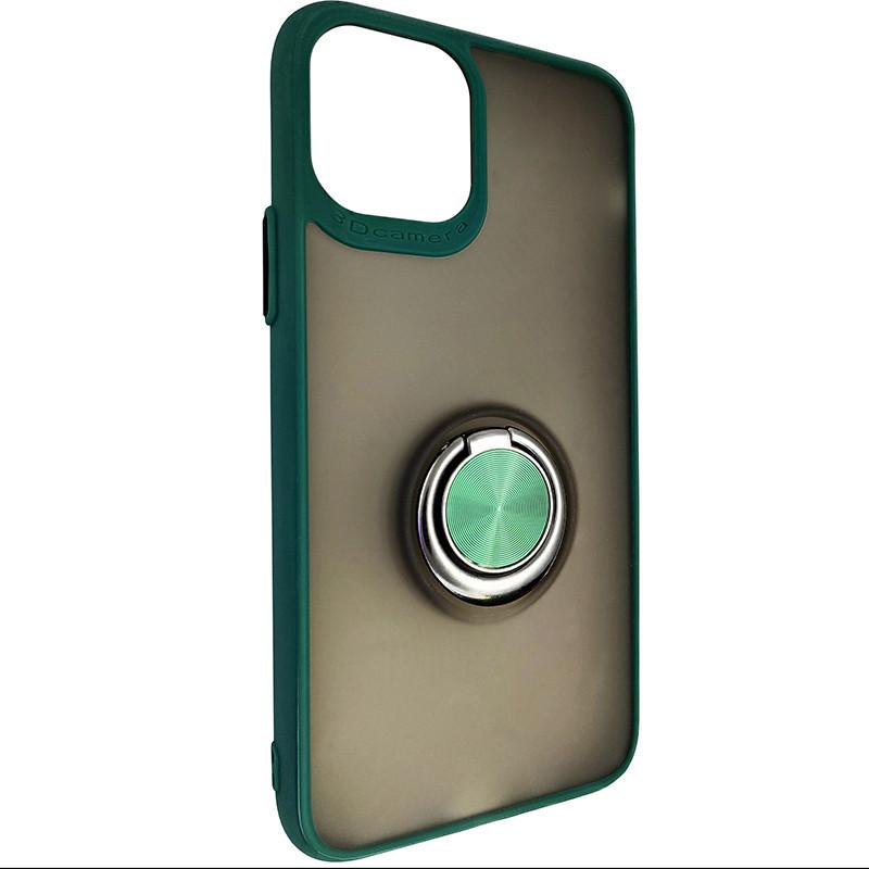 Чохол Totu Copy Ring Case iPhone 11 Pro Green+Black - 1