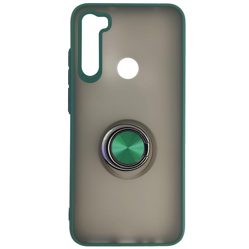 Чохол Totu Copy Ring Case Xiaomi Redmi Note 8T Green+Black - 4
