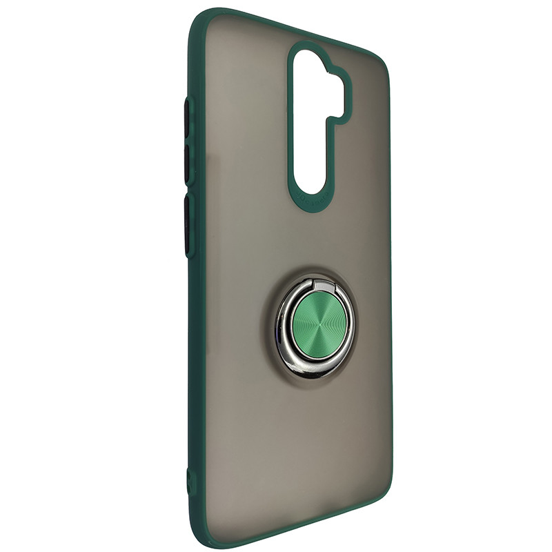 Чехол Totu Copy Ring Case Xiaomi Redmi Note 8 Pro Green+Black - 1