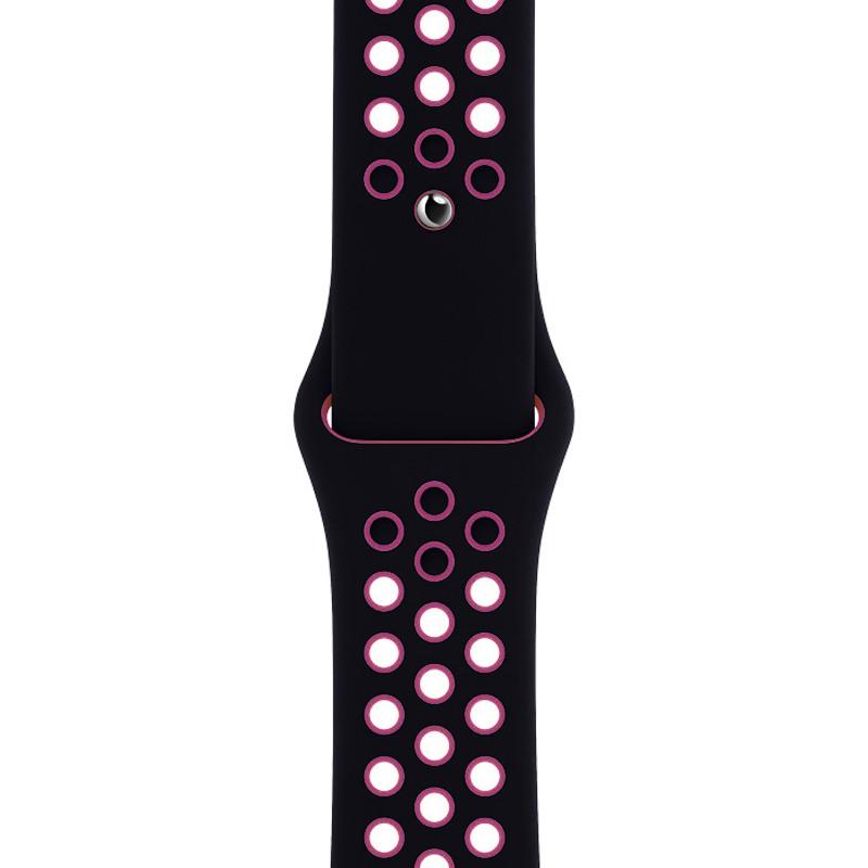 Ремінець для Apple Watch (38-40mm) Nike Sport Band Black/Pink - 1