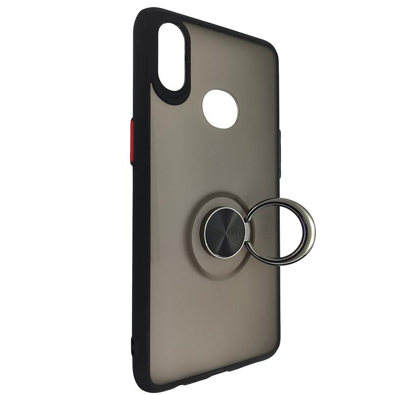 Чохол Totu Copy Ring Case Samsung A10S Black+Red - 2