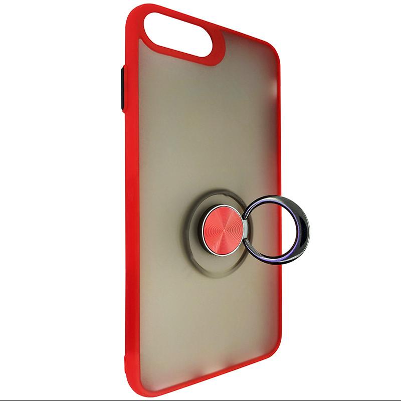 Чохол Totu Copy Ring Case iPhone 6/7/8 Plus Red+Black - 2
