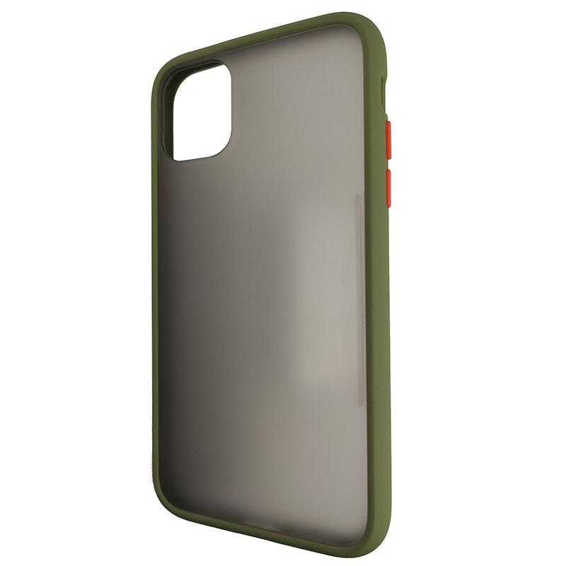 Чехол Totu Copy Gingle Series for iPhone 11 Dark Green+Orange - 3
