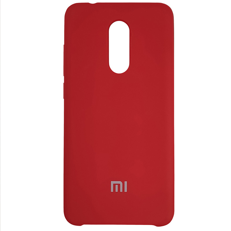 Чохол Silicone Case for Xiaomi Redmi 5 Deep Red (42) - 1