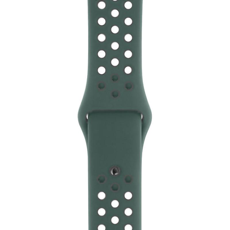 Ремінець для Apple Watch (38-40mm) Nike Sport Band Wood Green/Gray - 1