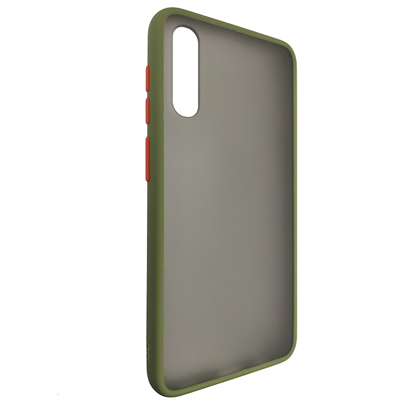 Чохол Totu Copy Gingle Series for Samsung A50S Dark Green+Orange - 1