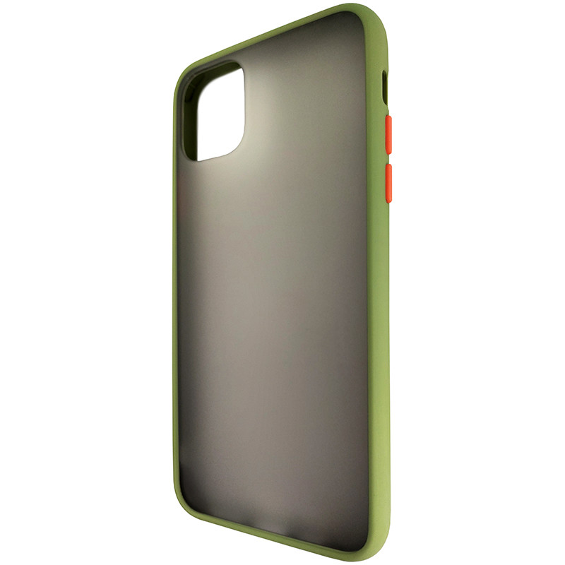 Чохол Totu Copy Gingle Series for iPhone 11 Pro Max Dark Green+Orange - 2