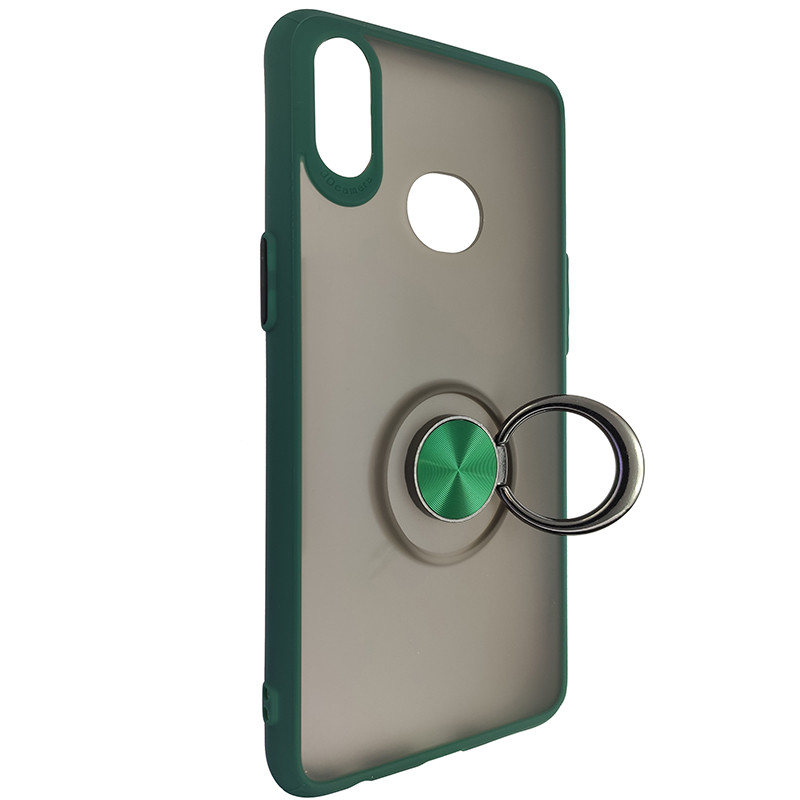 Чохол Totu Copy Ring Case Samsung A10S Green+Black - 2